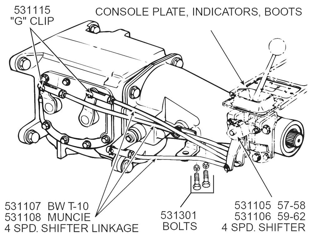 57 62 Shifter Linkage Set