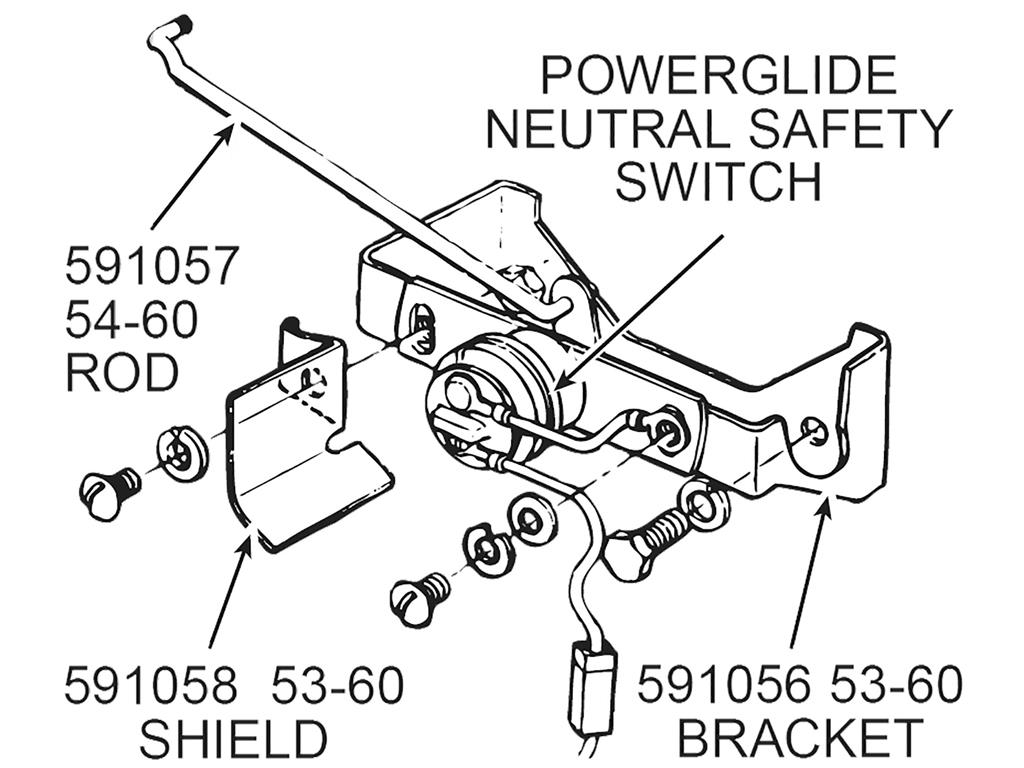 54 60 Neutral Safety Switch Rod