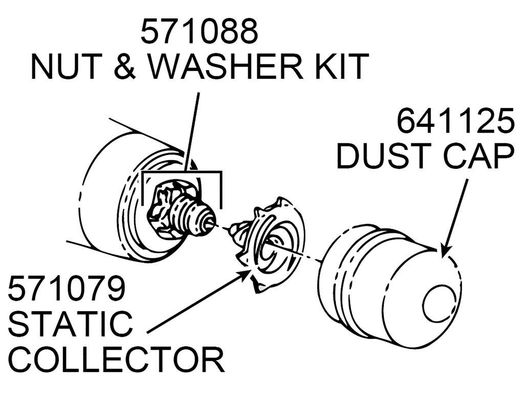 53 62 Front Wheel Bearing Dust Grease Cap