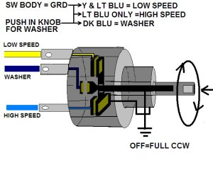 Need help with 67 wiper switchmotor wiring