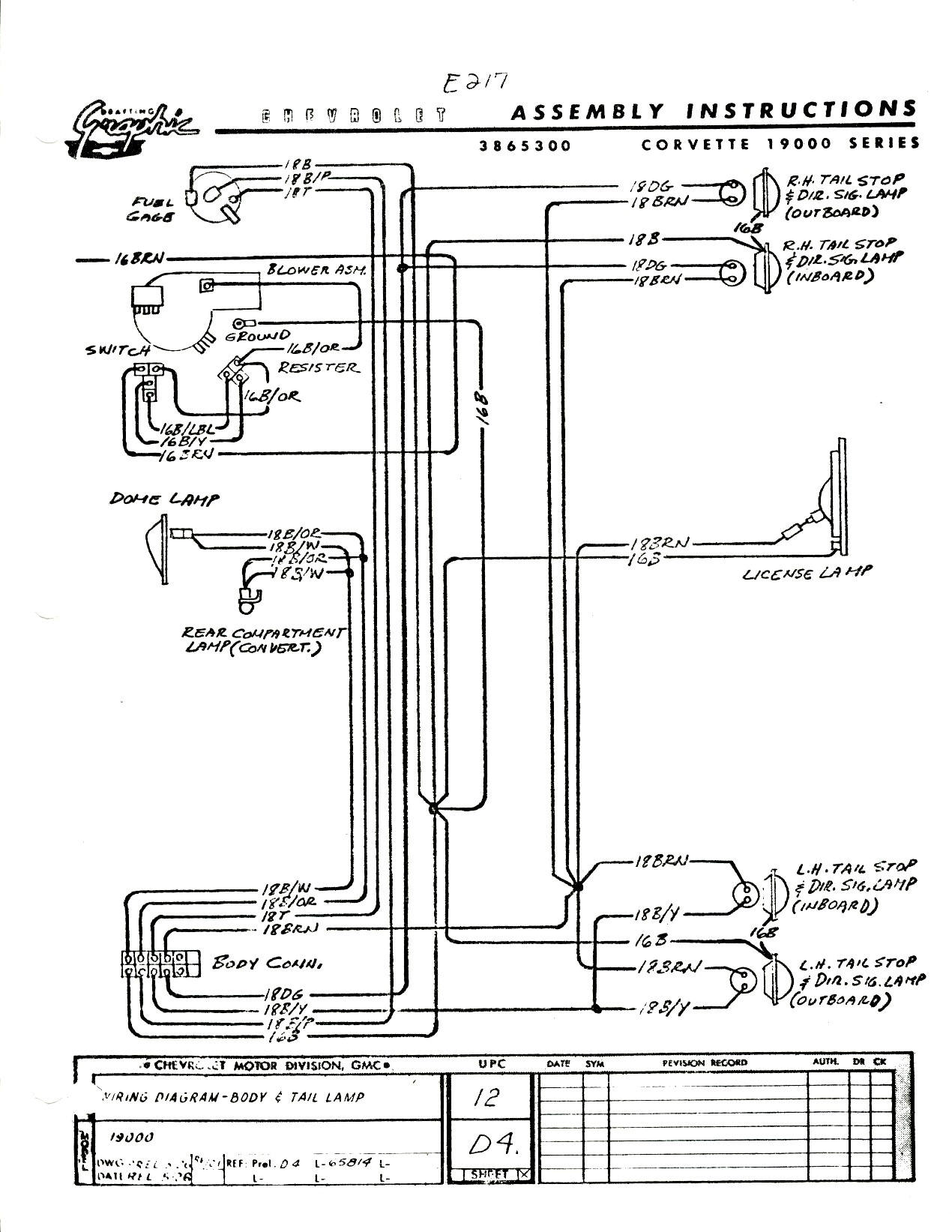 65 Corvette Dash Wiring Diagram