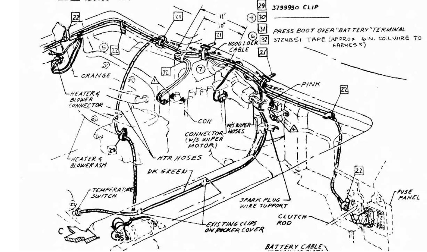 Engine Harness Routing 64