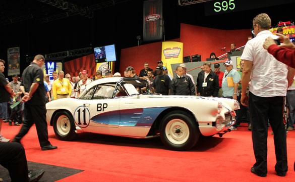 1961 Corvette Gulf Oil Race Car a No-Sale at Mecum's 2012 Kissimmee Auction