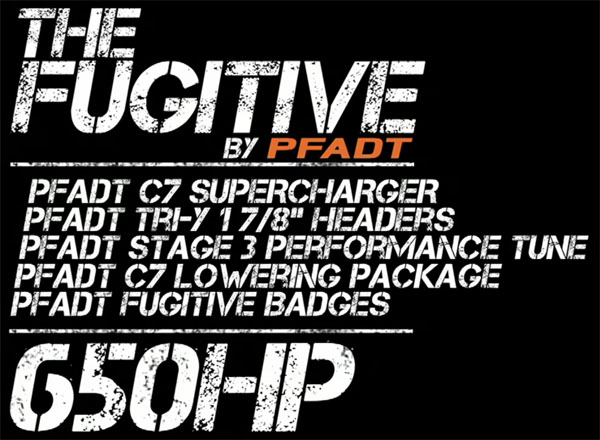 The Fugitive C7 Corvette by Pfadt