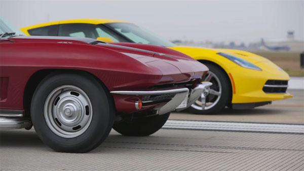 C7 Corvette vs C2 Corvette 427-435