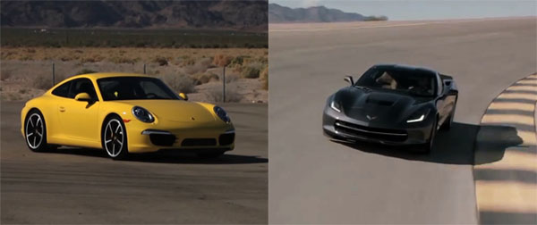 Porsche 911 Carrera S vs C7 Corvette Stingray