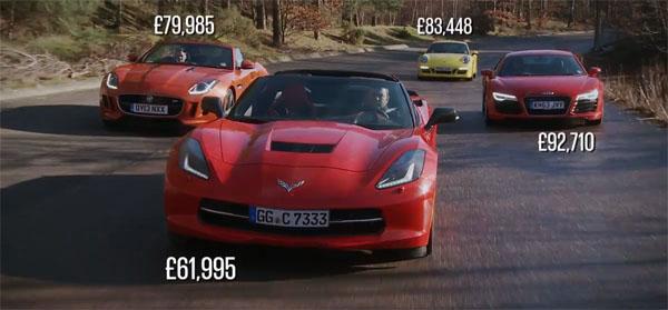 C7 Corvette Stingray vs Jaguar F-TYPE, Porsche 911 and Audi R8 Prices