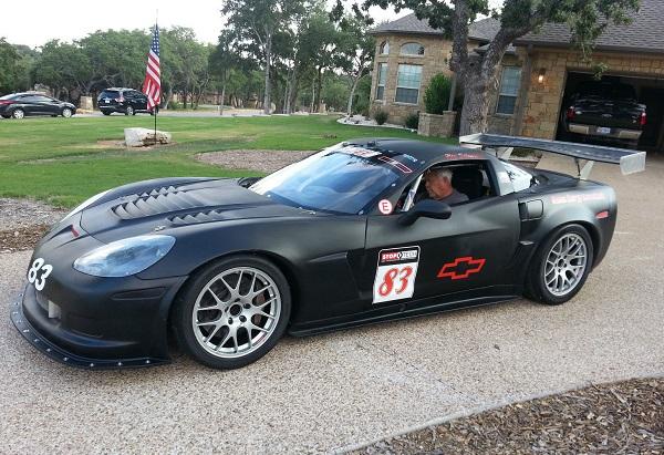 Corvette racer text