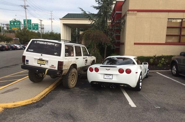 Corvette parking text