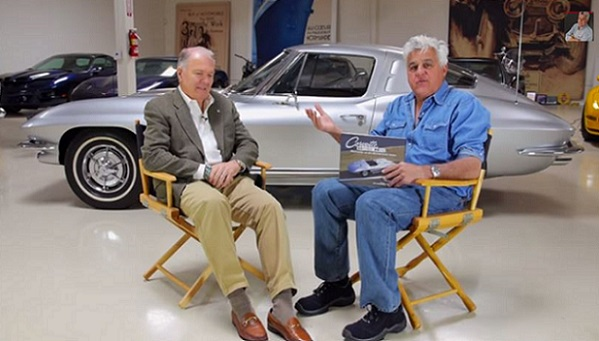 Peter Brock and Jay Leno text