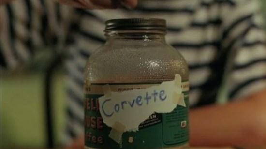 Corvette Bottle text
