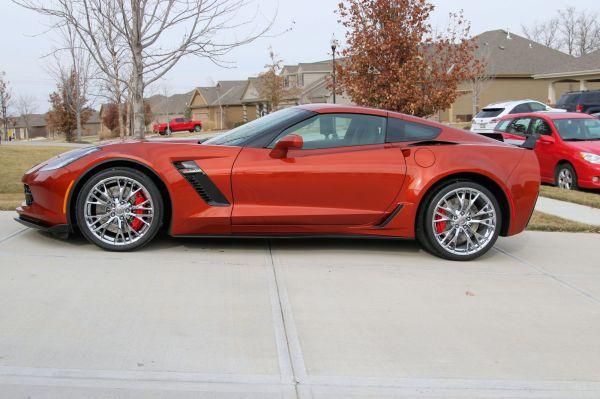 2015 Corvette Z06 (C7) Daytona Sunrise Orange Metallic Delivered and in the Driveway (1)