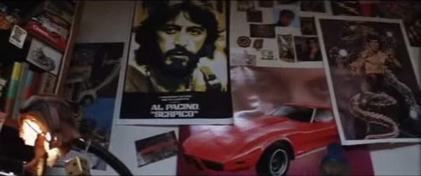 Boogie Nights - Dirk's Room - Corvette-Pacino-Bruce Lee Wall