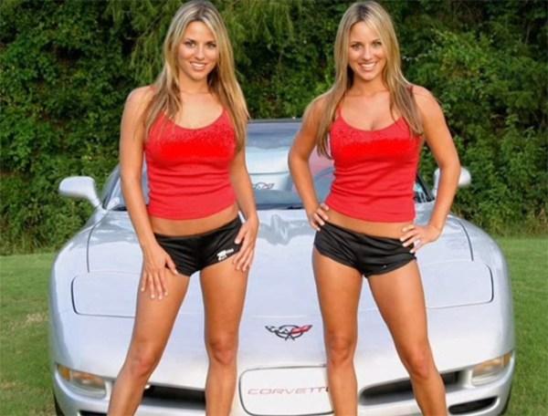 C5 Corvette and Sexy Twins - Corvettes and Sexy Women