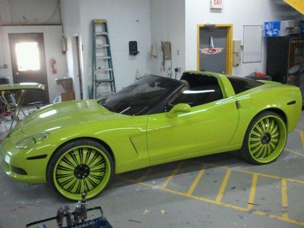 C6 Corvette Donk Green