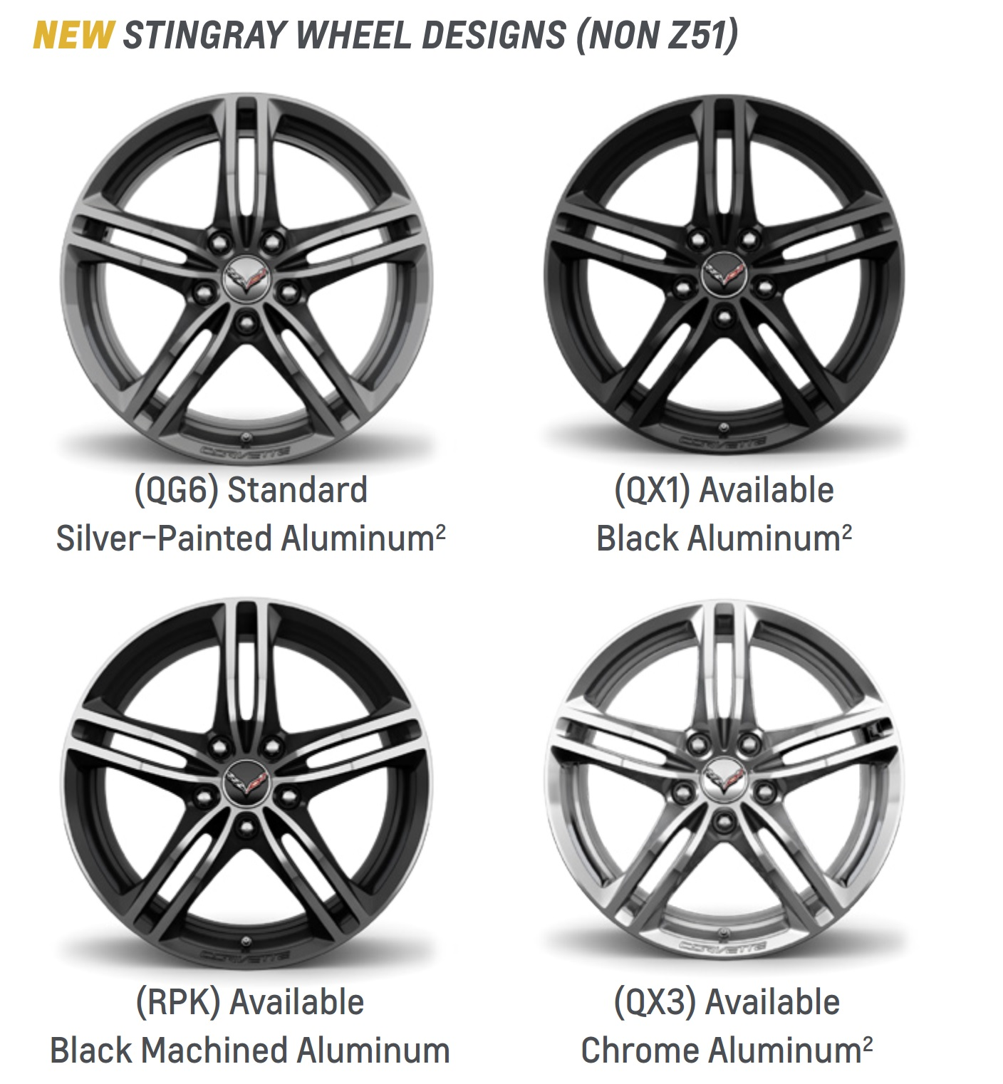 Where Is The Corvette Script Located On Your Oem Wheels