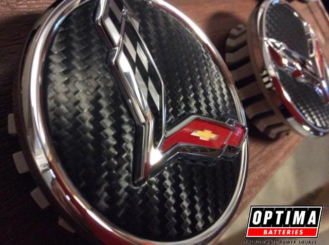 C7 Corvette Carbon Fiber Wheel Center Caps