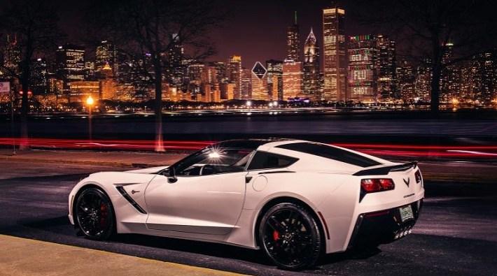 Corvette in city