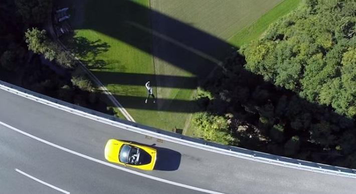 Corvette skydive