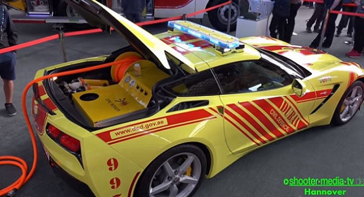 Dubai Fire and Rescue Team Drives Corvettes