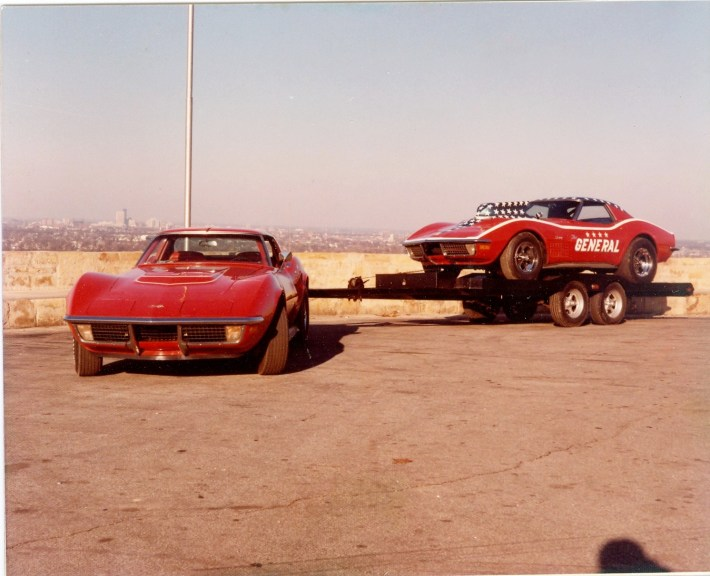 c3 barn find towed by c3 corvette