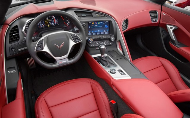 The shifter for the C7 Corvette's automatic transmission.