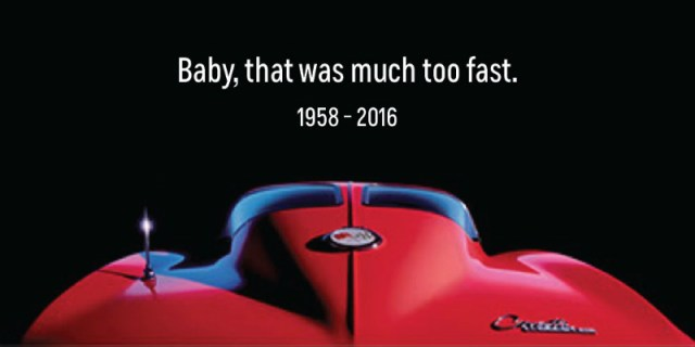 Chevy Corvette's Prince ad
