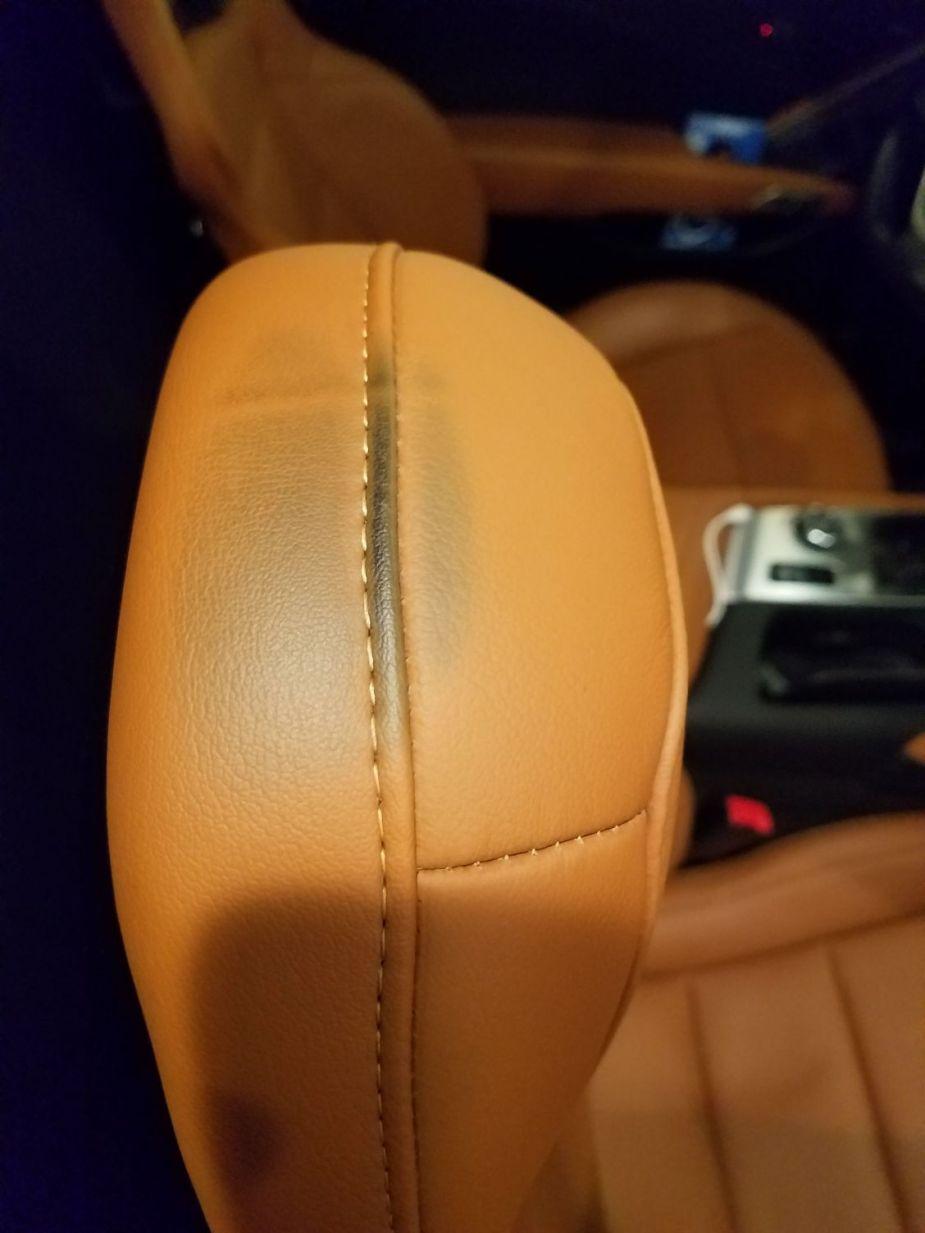 Corvette Passenger Seat Smudging