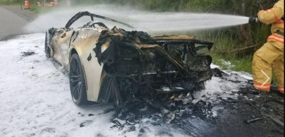 Burnt C7 Corvette Z06