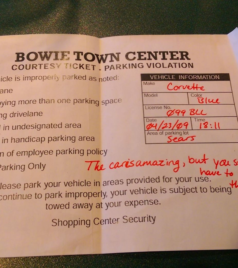 Courtesy Parking Ticket