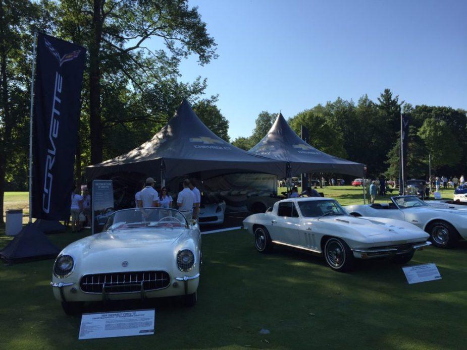 Carbon 65 Corvette C7 with C1, C2, and C3 Corvettes