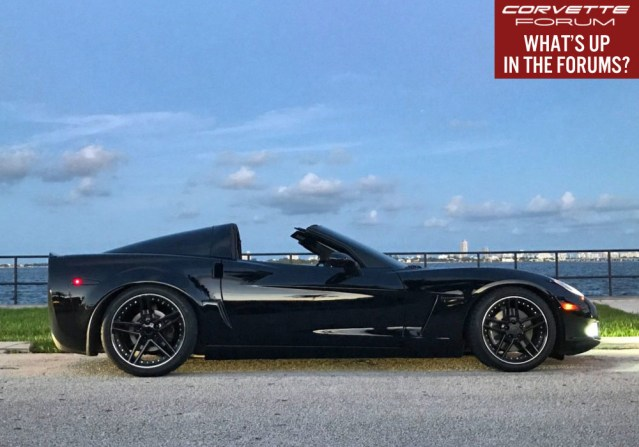 A C6 Corvette in Miami with Targa Top.