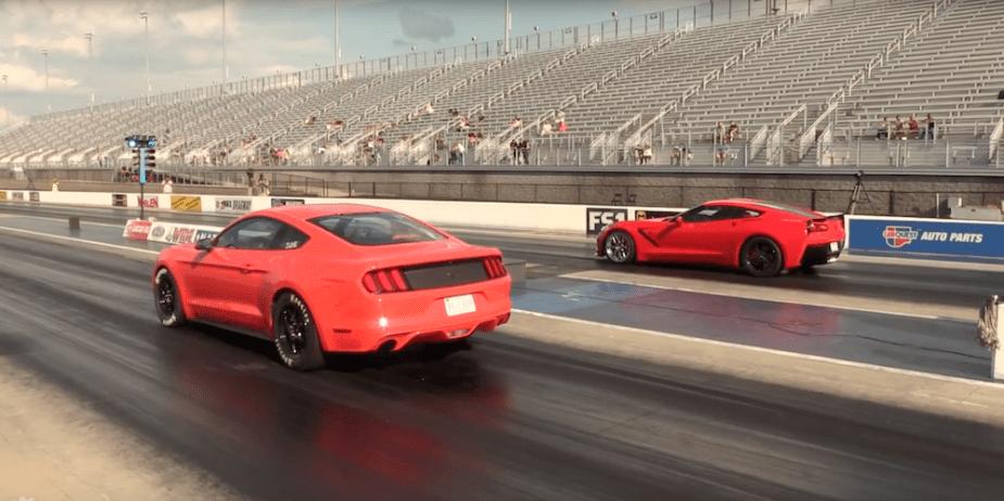 Corvette C7 vs EcoBoost Mustang