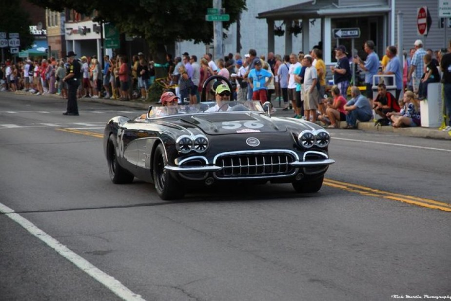 Tony Parella and his 1958 Corvette.