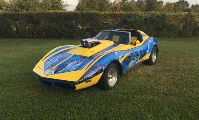 Modified 1973 C3 Corvette Comic Book