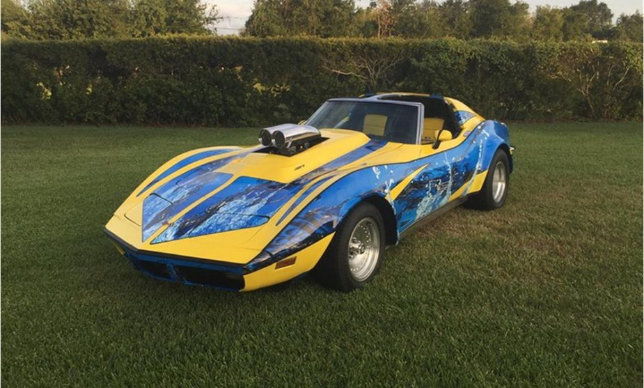 Modified 1973 C3 Corvette Comic Book