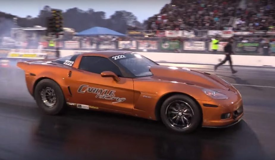 Carlyle C6 Z06 Runs 220 MPH Drag Racing