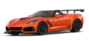 Orange Corvette ZR1 vert
