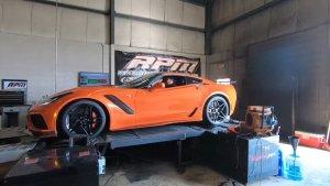 2019 Corvette ZR1 on the Dyno