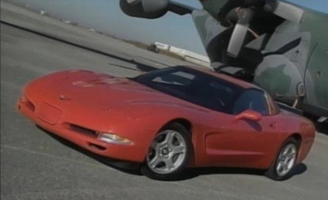 1997 Corvette in red