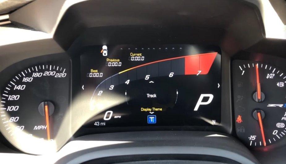 ZR1 Track Screen