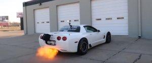 Corvette Z06 Shoots Flames