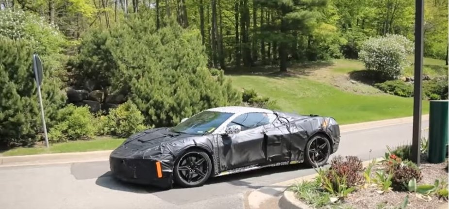 Mid-engine Corvette front side