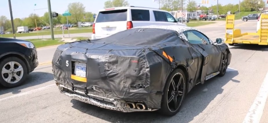 Mid-engine Corvette from behind
