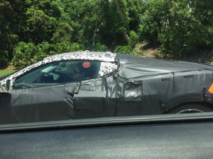 C8 Corvette test mule spotted in the wild.