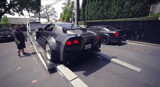 """Carbon fiber-bodied C6 Corvette ZR1 """"Black Manta."""""""