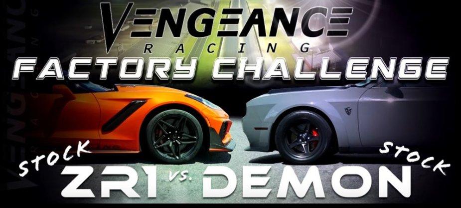 Vengeance Racing Corvette ZR1 Vs Demon Banner