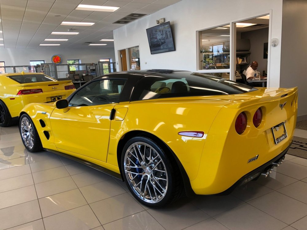 Velocity Yellow Corvette ZR1 Rear Corner