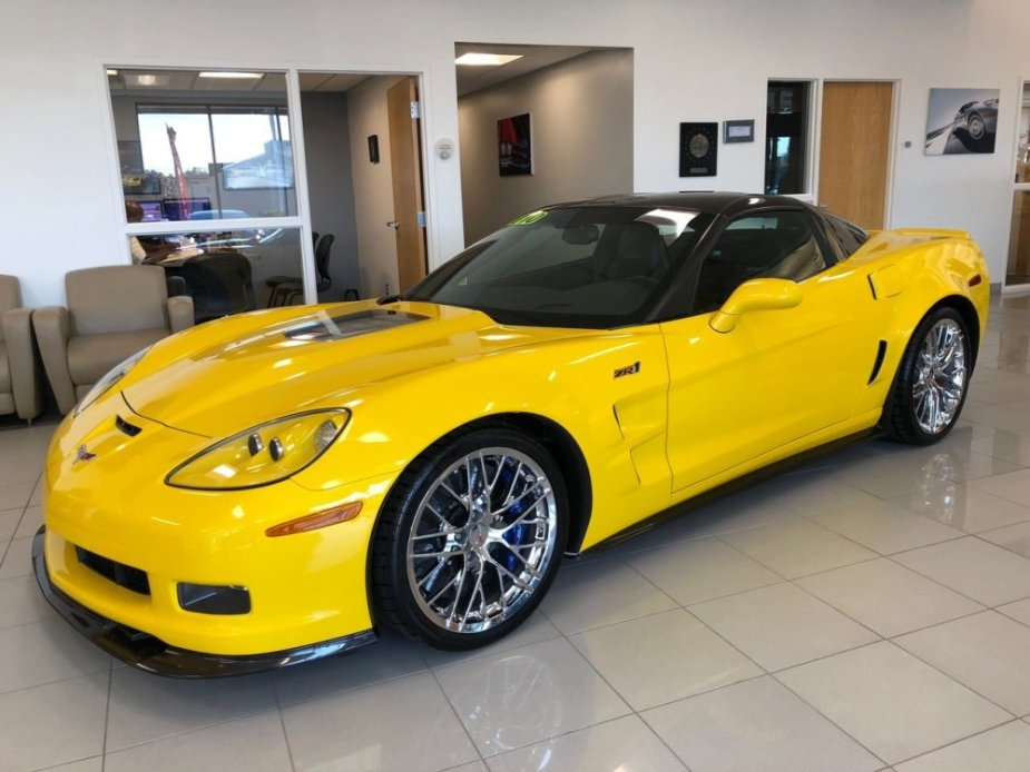 Velocity Yellow Corvette ZR1 FRont