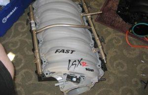 Corvette LS2 FAST Manifold with Rails